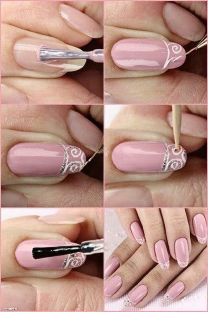 Несложный дизайн своих ногтей гелем