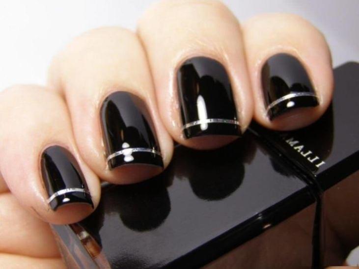 Покрытие черный ШЕЛЛАК на ногтях ФОТО 2014 87