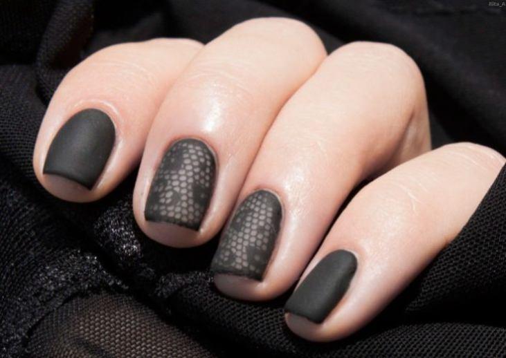 Черный гель лак 112 фото новинок Черный гель лак на коротких ногтях