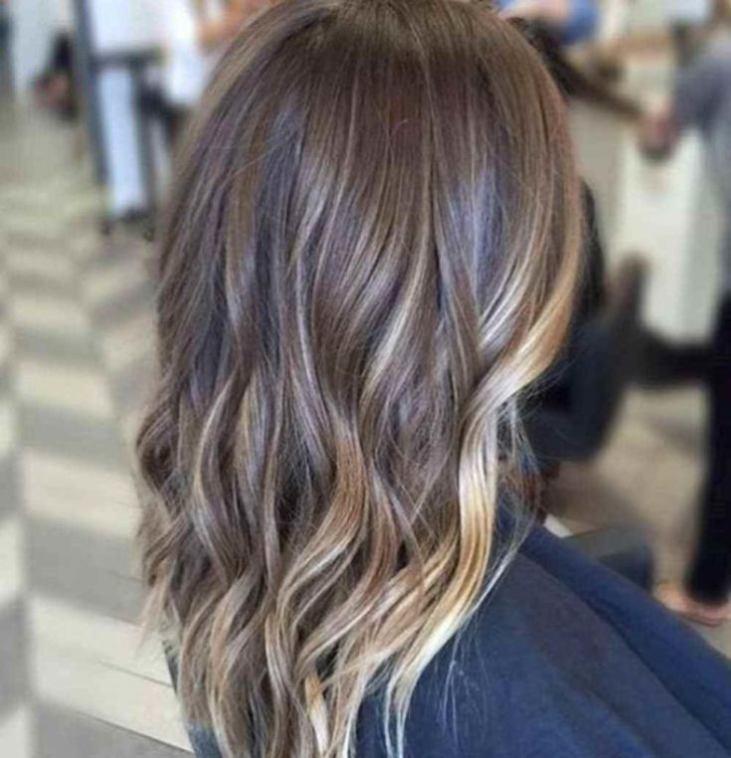 колорирование волос фото на темные