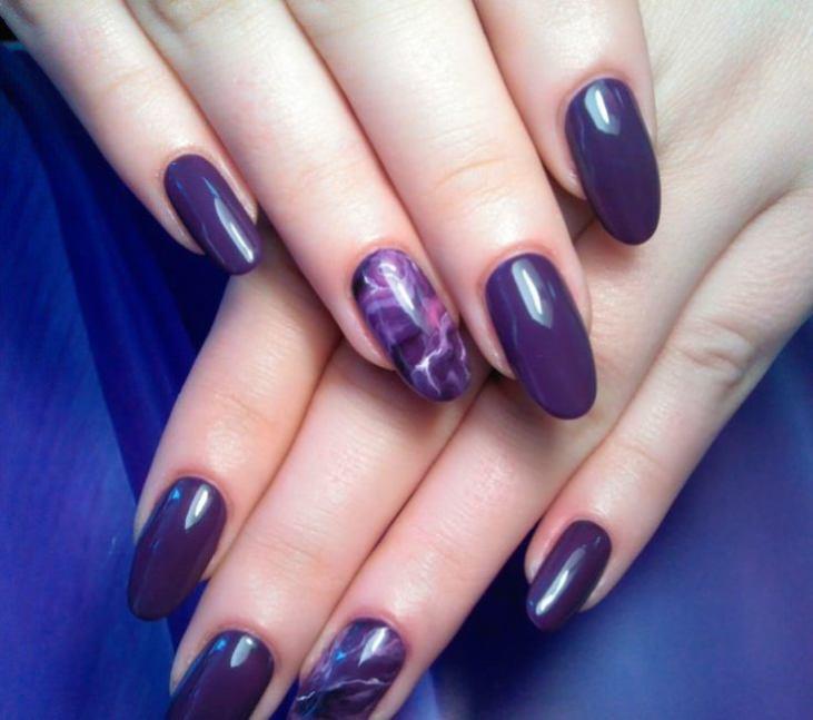 ногти фиолетовые дизайн фото