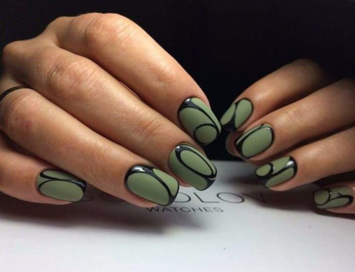 Светло зеленый дизайн ногтей