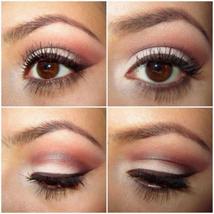 Фото макияжа карих глаз со стрелками