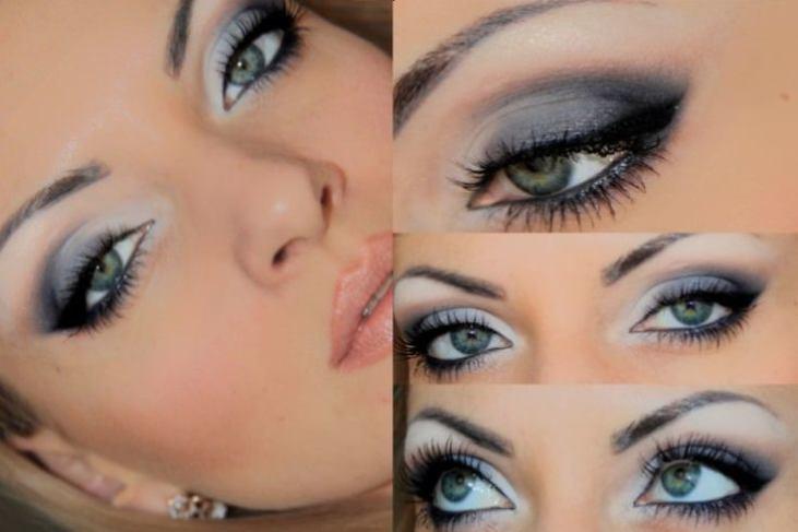 Красивый макияж для голубоглазых