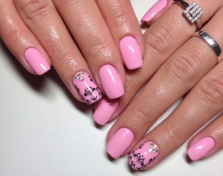 Красивый Дизайн Сиреневых Ногтей Фото