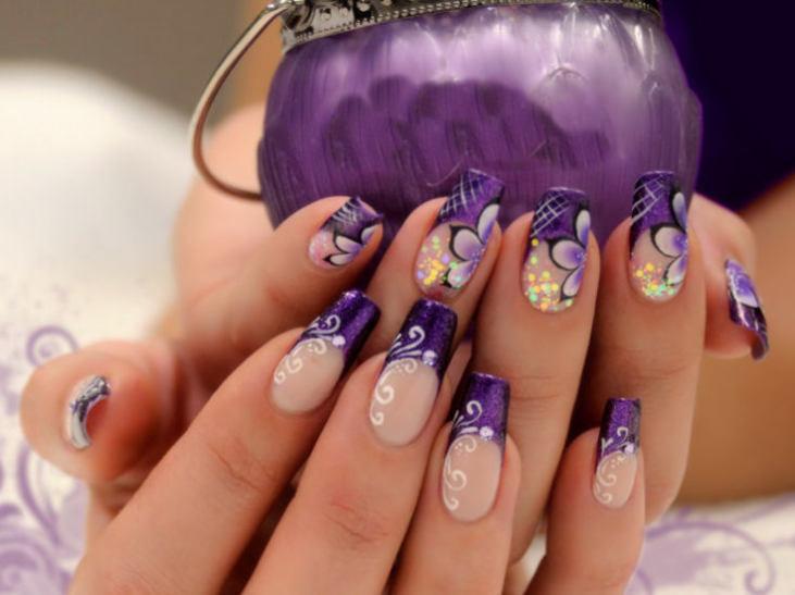 Фиолетовый маникюр 2016 модные тенденции идеи новинки фото