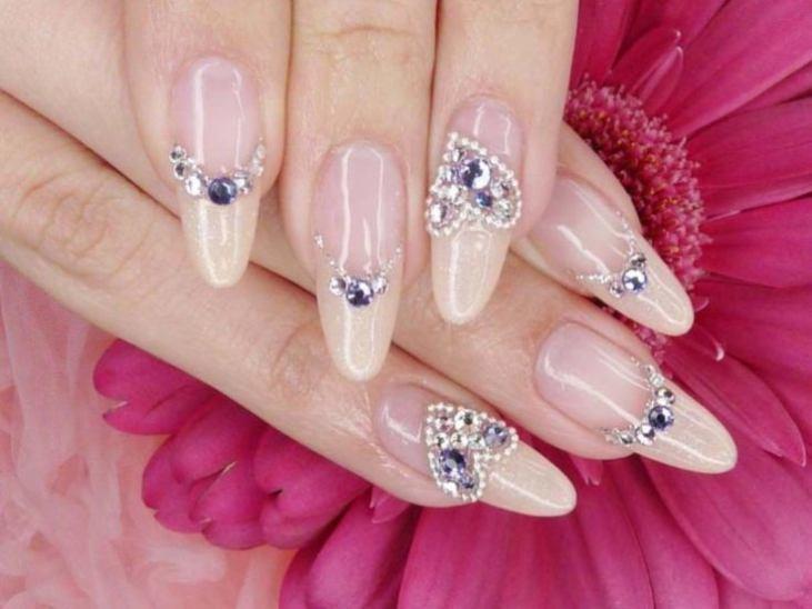Дизайн ногтей свадебный смотреть