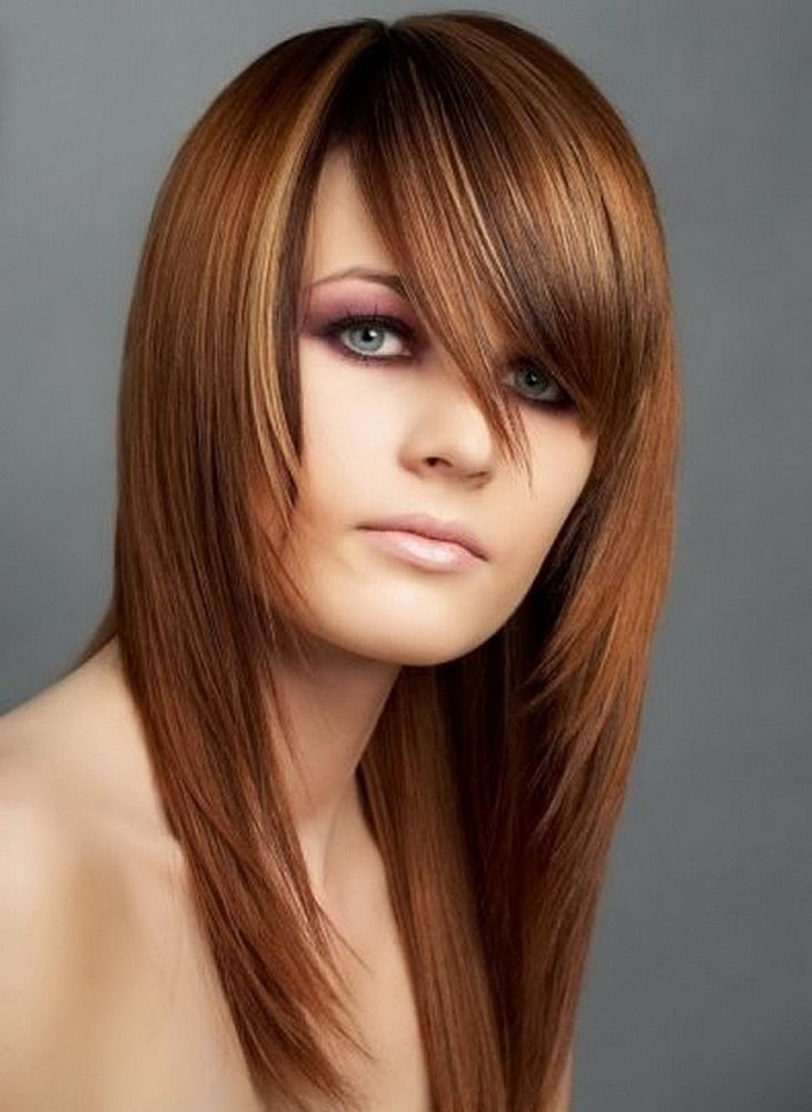 Фото причесок с челками на длинные волосы для девочек