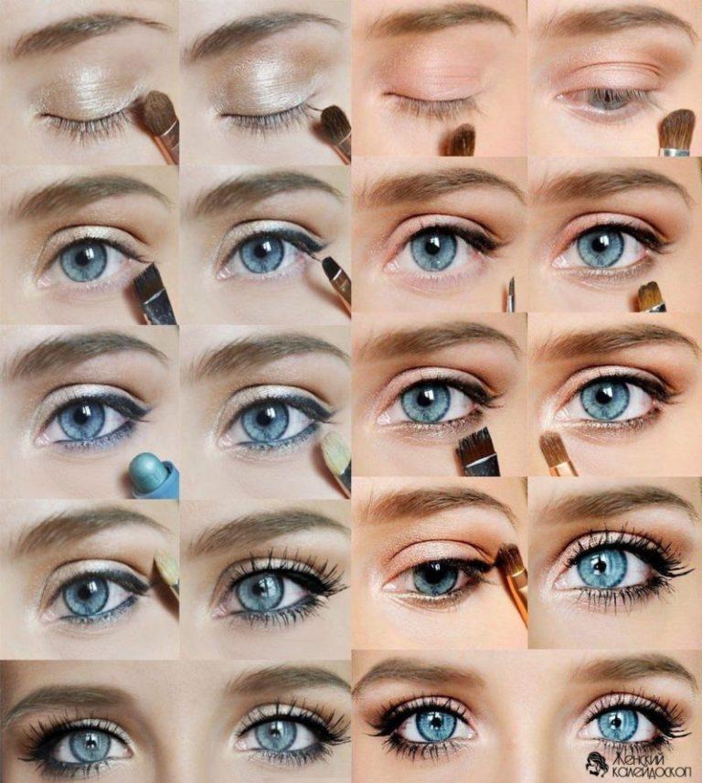 Как сделать глаза на голубыми