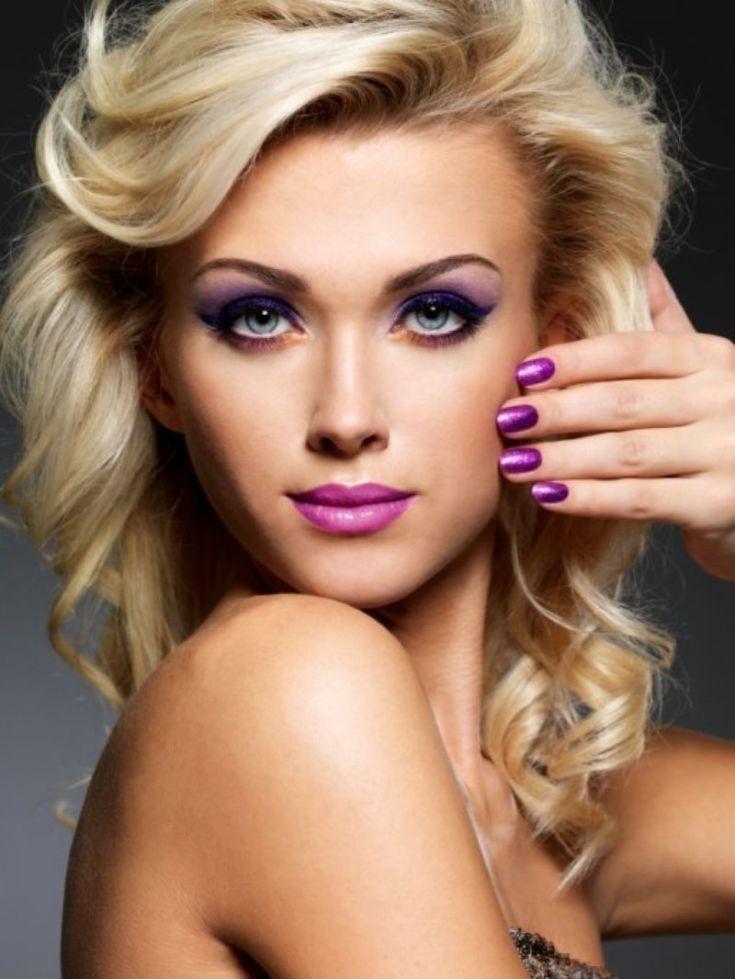 Очень красивый макияж для блондинок