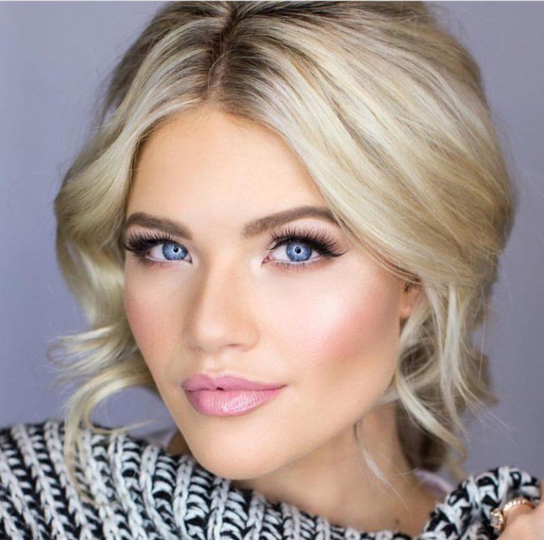 Фото вечернего макияжа для блондинок с зелеными глазами