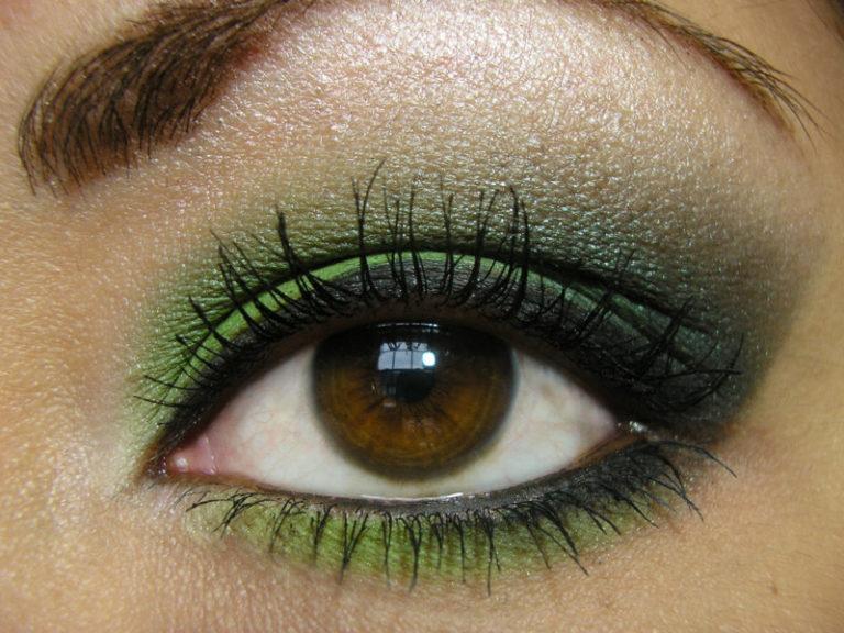 зеленый макияж для карих глаз фото этого
