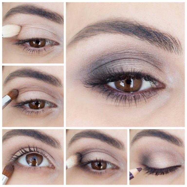 интонация, пошаговые картинки макияжа глаз грамотном