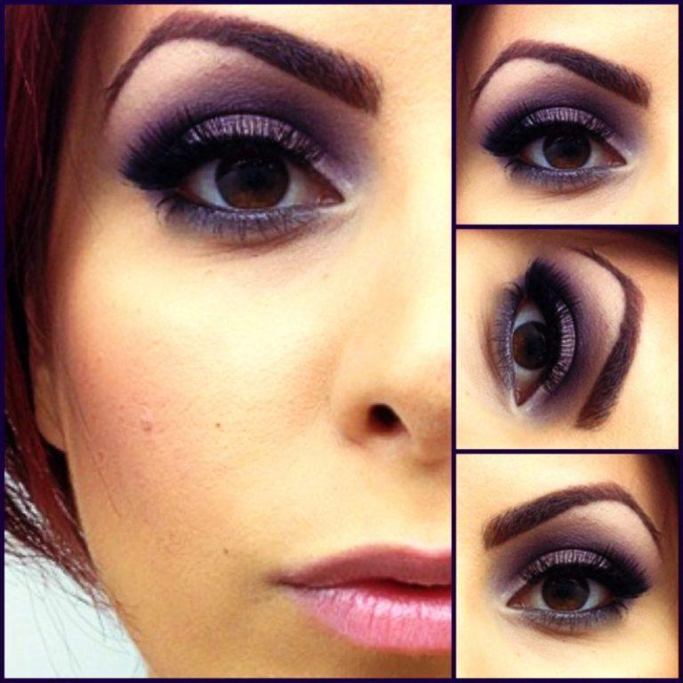 Свадебный макияж для карих глаз цвета