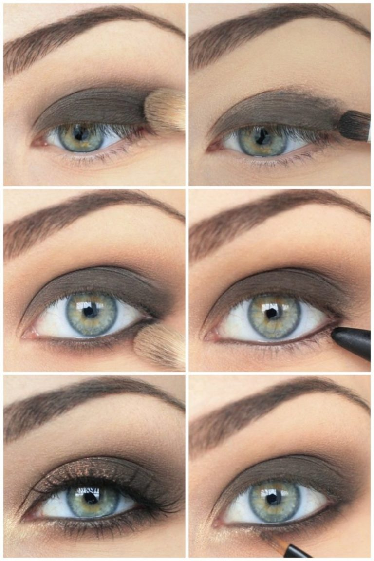 Пошаговый макияж дымчатых глаз фото