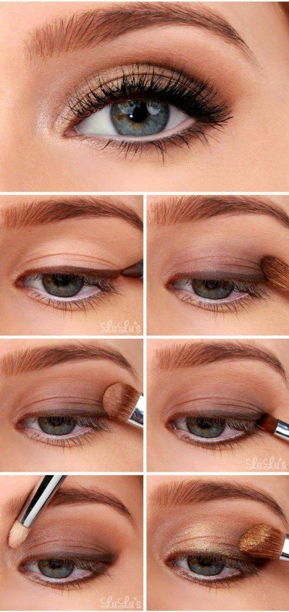 Как сделать макияж глаз для серых глаз