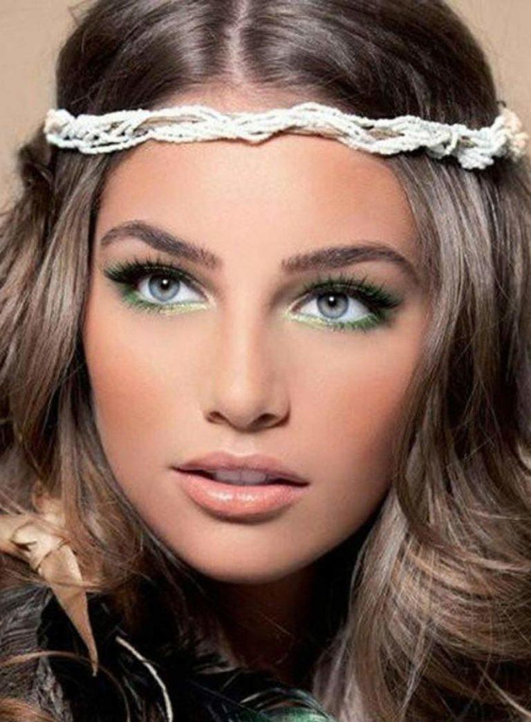 Макияж к зелено-серым глазам и светлой коже