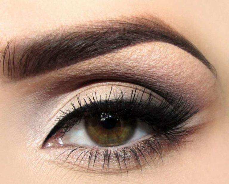 Макияж на светло карие глаза