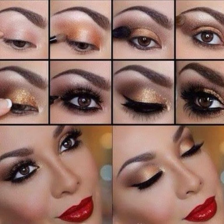 Видео как правильно сделать макияж глаз