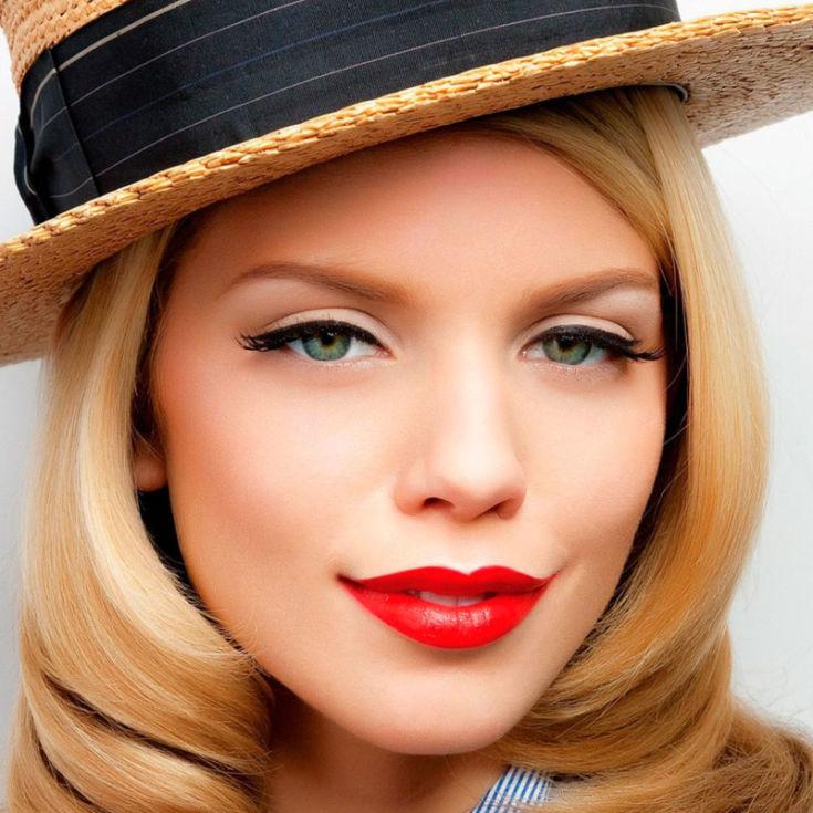 Фото макияжа для блондинок с зелеными глазами