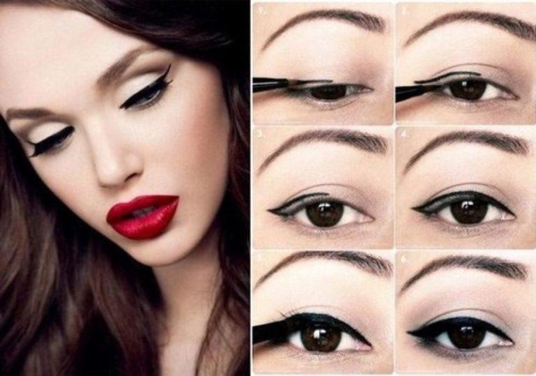Красивый легкий макияж стрелки