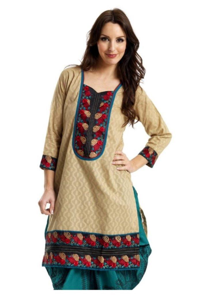 Designer kurti Tops Tunics Indian Pakistani Cotton