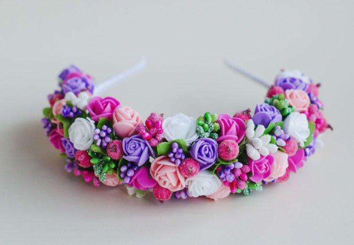 Цветы из фоамирана ободки мастер класс