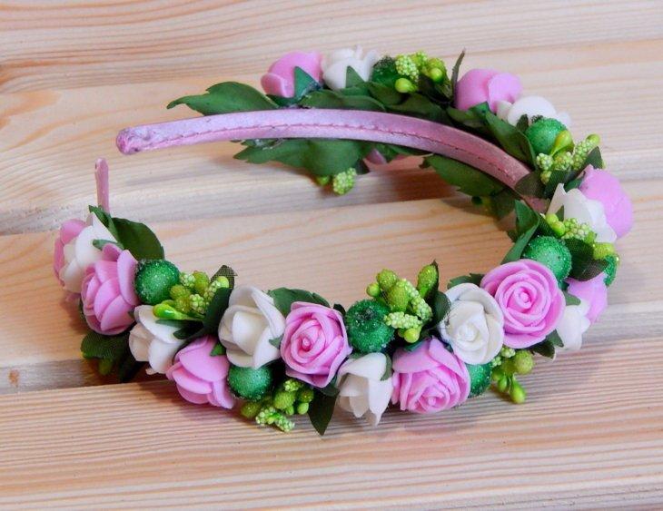Ободки для волос с цветами своими руками фото 54