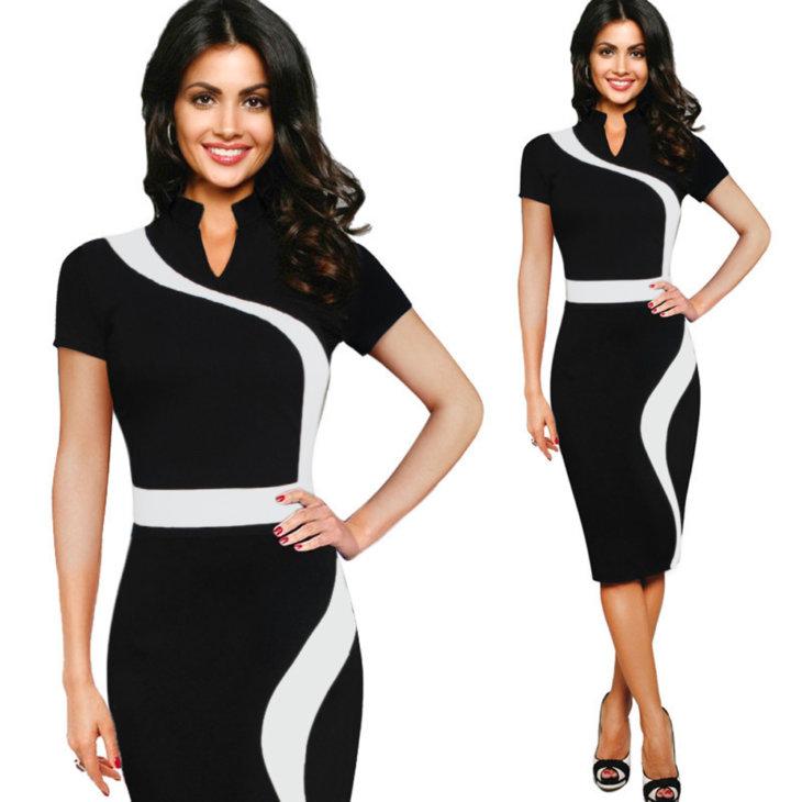 a17b50d33cb А вот обтягивающие модели лучше изъять из делового гардероба. Платья миди и макси  остаются в моде