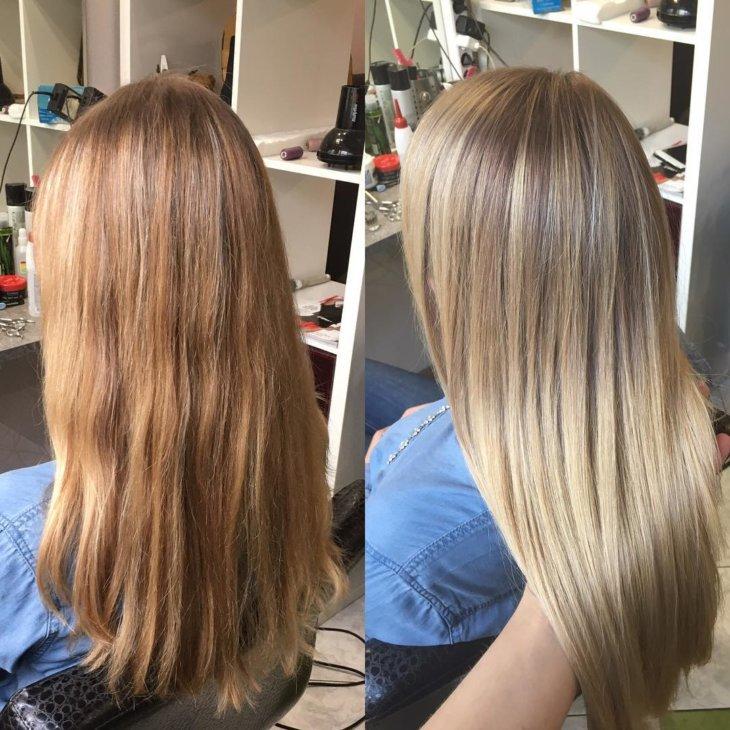 Шатуш волос в домашних условиях фото 577