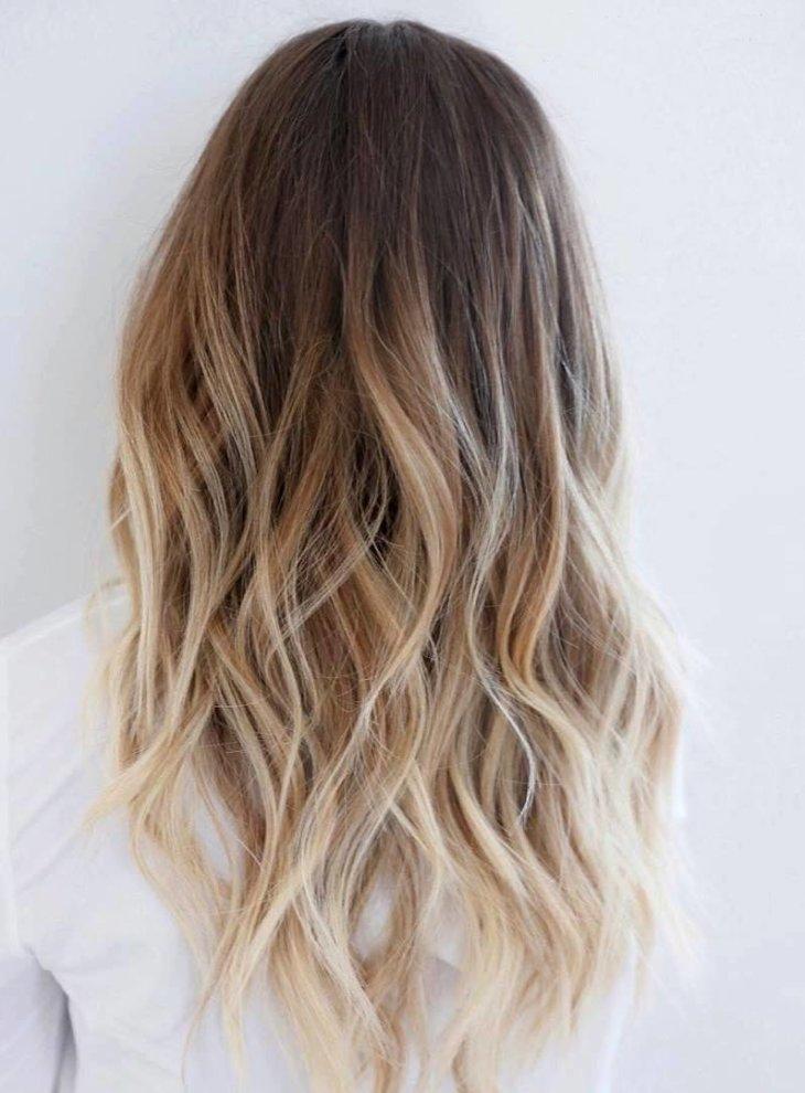 кончики на фото волосах светлые русых