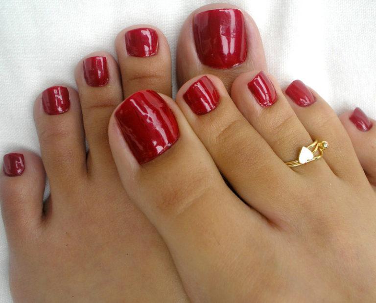 Фото ногтей гель лак на ногах