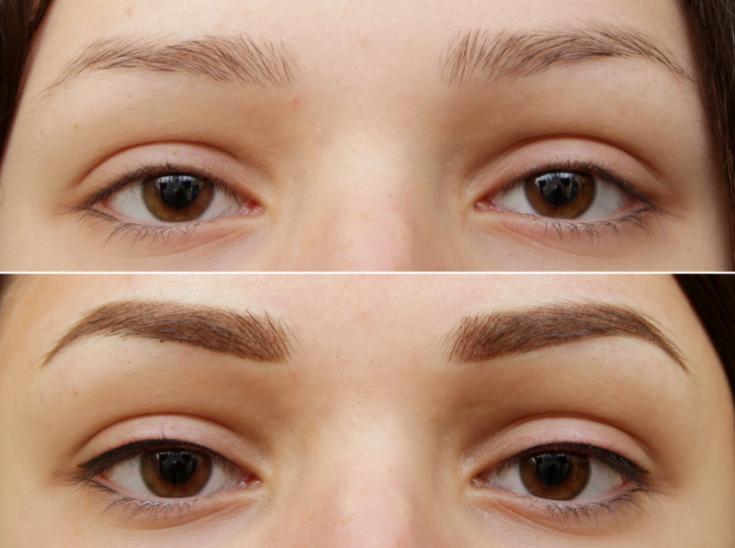Image result for перманентный макияж бровей