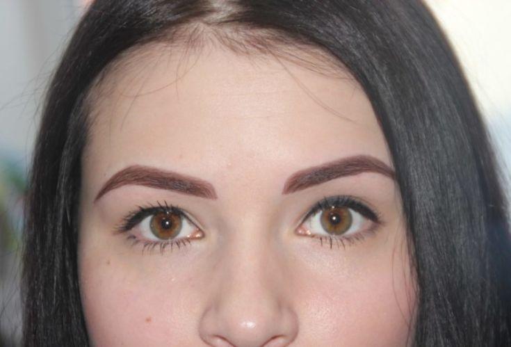Перманентный макияж формы бровей фото