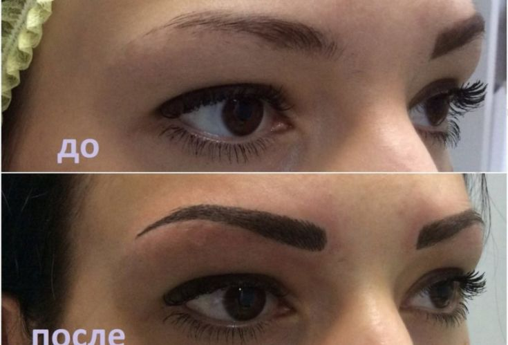 Как сделать ниже брови татуаж