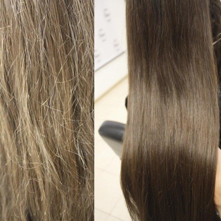 Как убрать секущиеся волосы фото