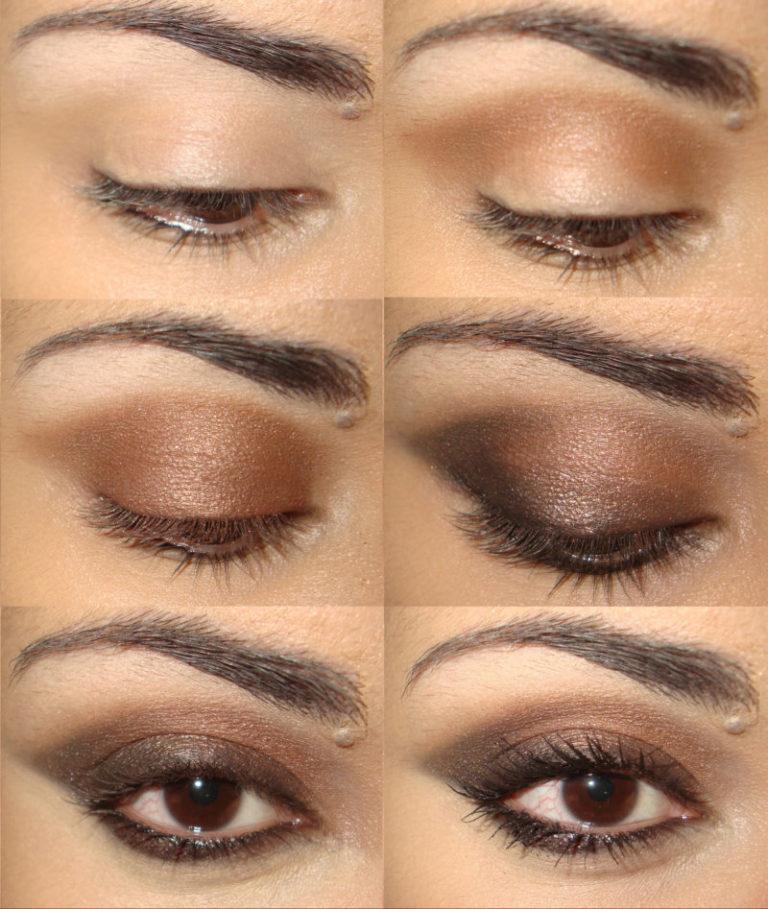 Макияж черные коричневые тени