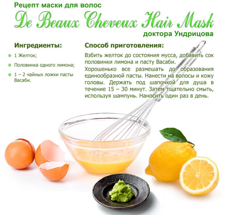 Рецепт маски для волос в домашних условиях от выпадения волос