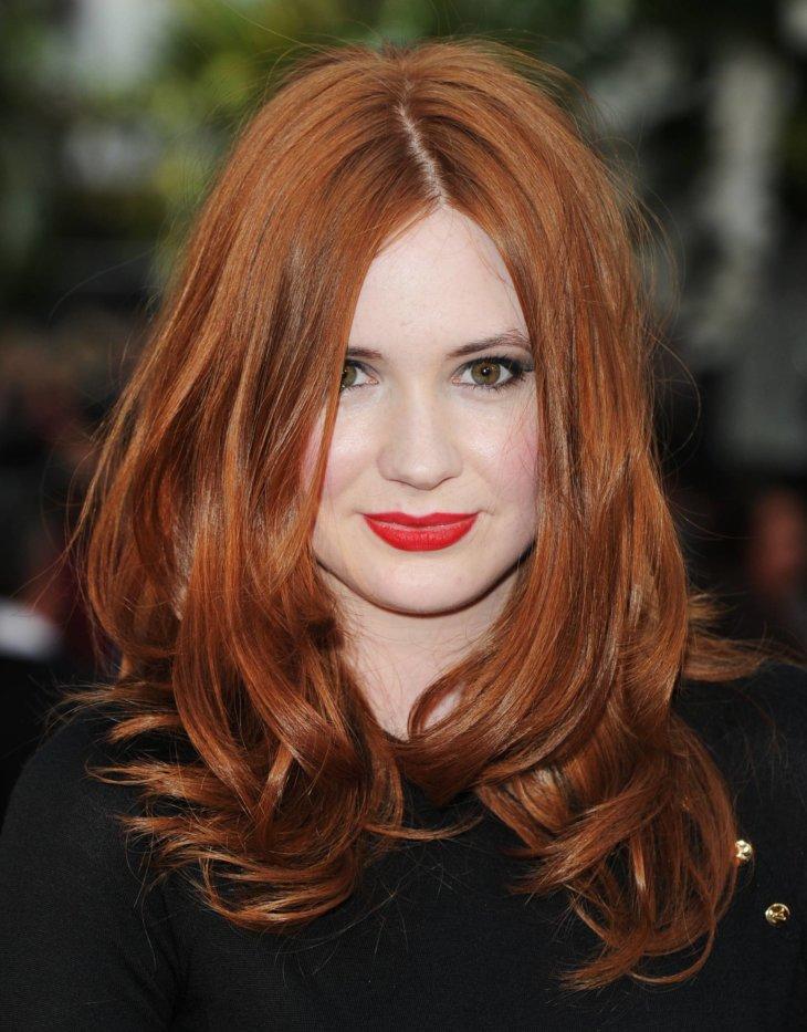 Оттенки рыжего цвета волос для карих глаз и