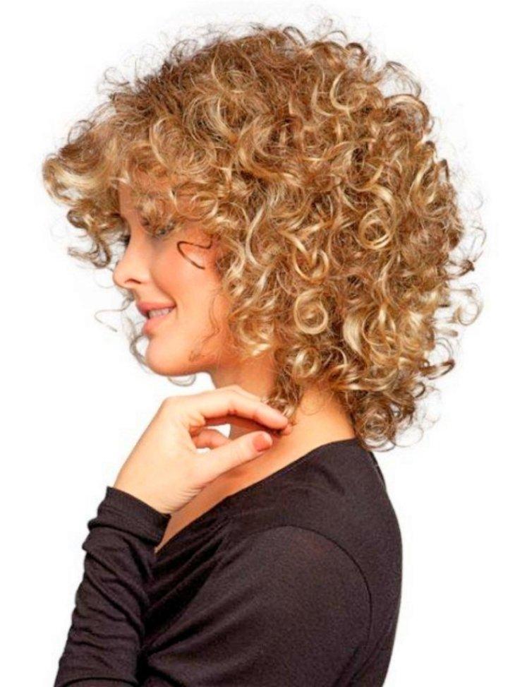 Вьющиеся волосы картинки стрижки