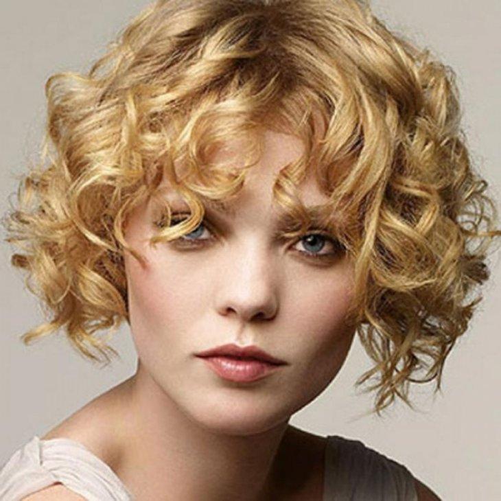 Волнистые волосы для коротких волос в домашних  108