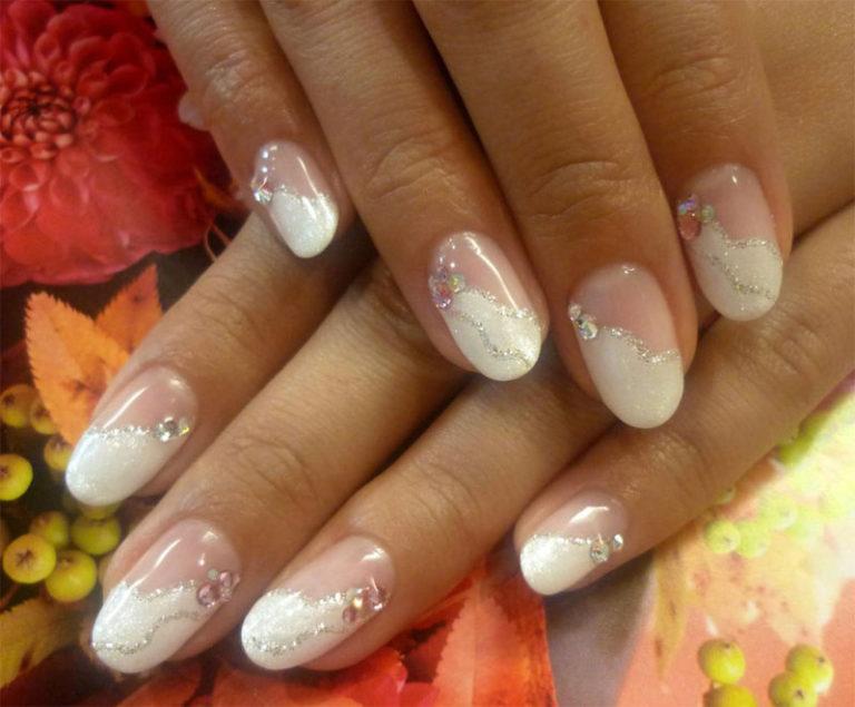 Свадебный маникюр своими руками на короткие ногти