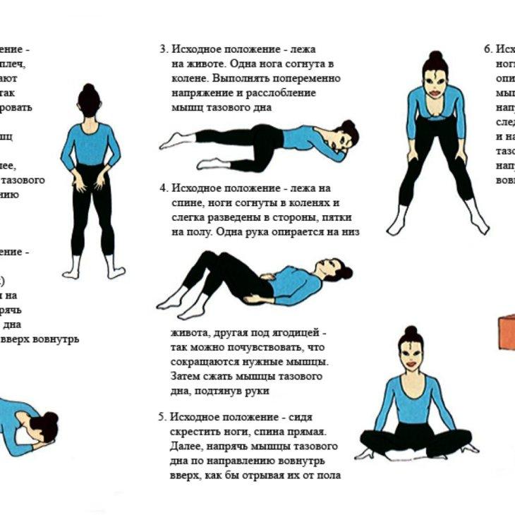 Упражнения для укрепления тазового дна беременным