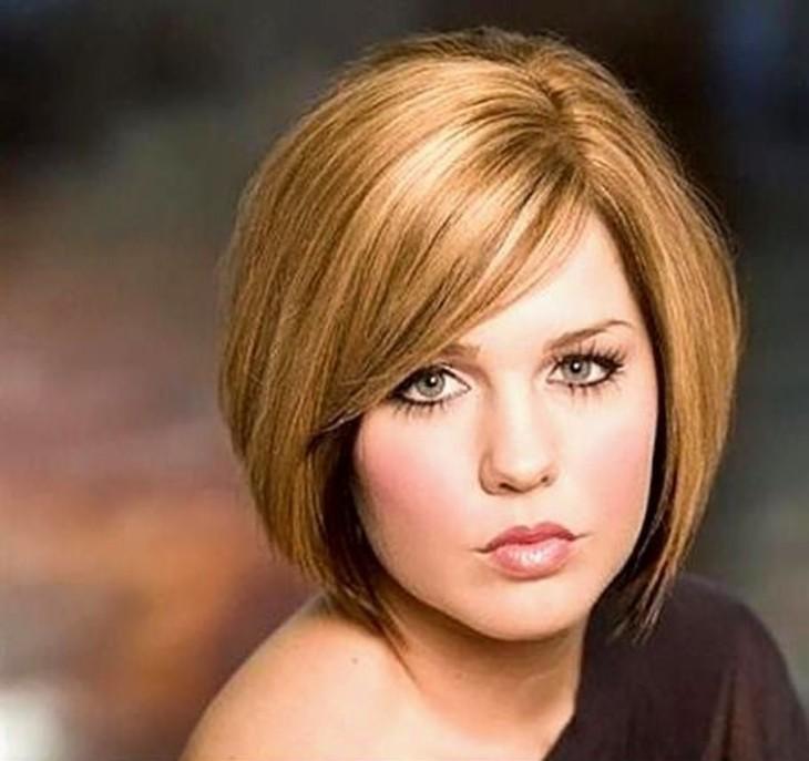 Стрижки на средние волосы с круглым лицом женские
