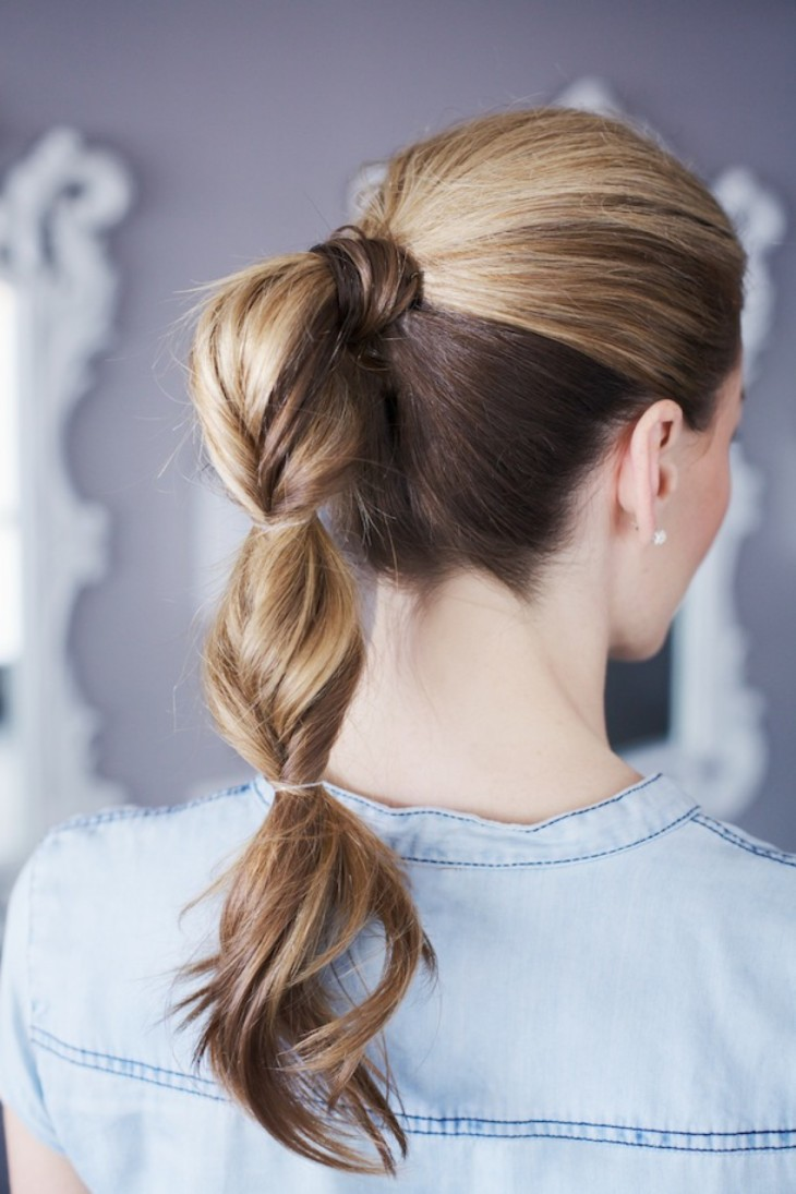 Повседневные прически на длинные волосы с резинкой