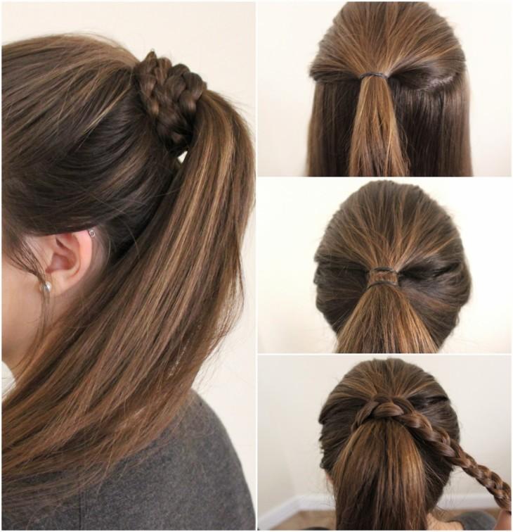 Как сделать хвост только из волос 795