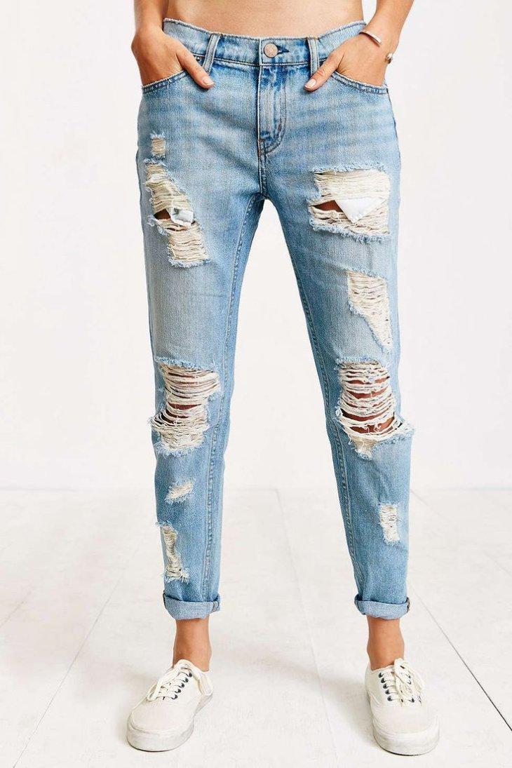 Модные женские джинсы бойфренды-2017: фото стильных 85