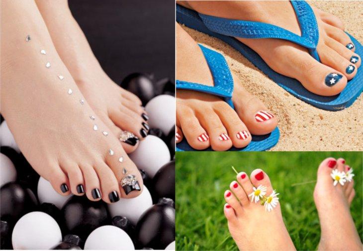 Как накрасить ногти на ногах