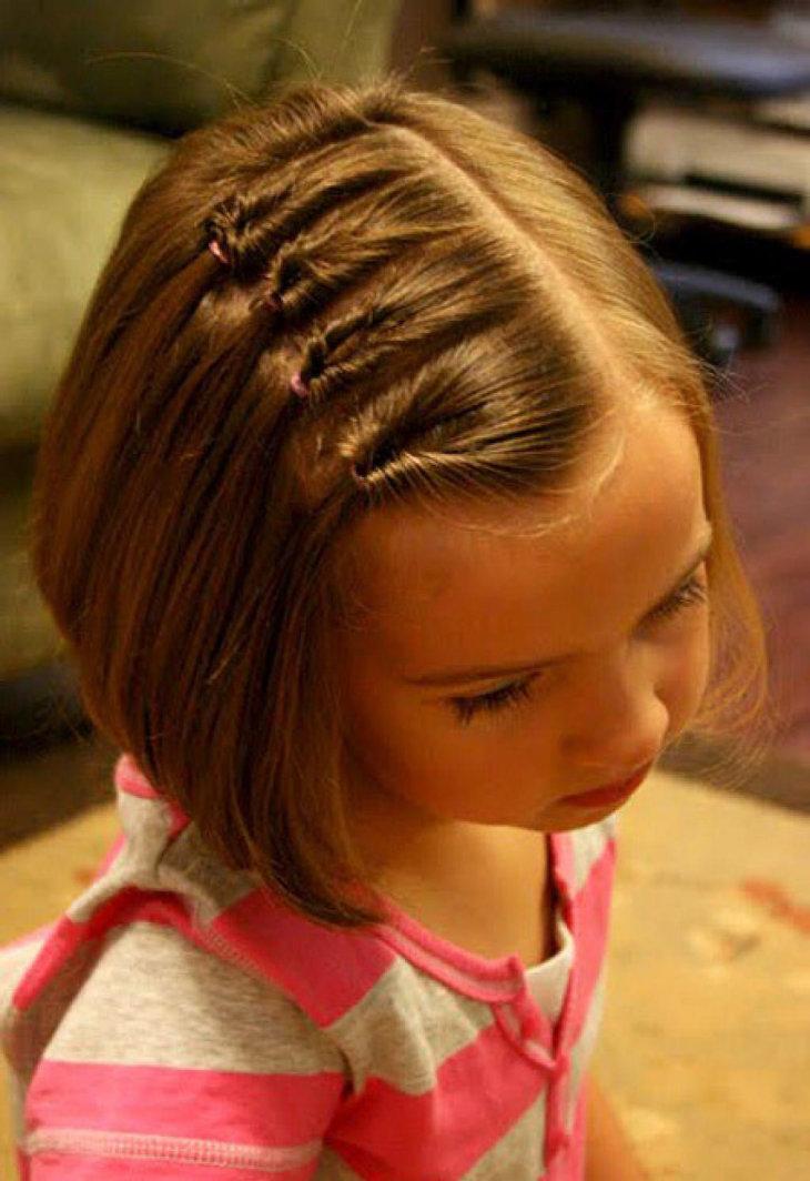 Детские причёски в школу на короткие волосы