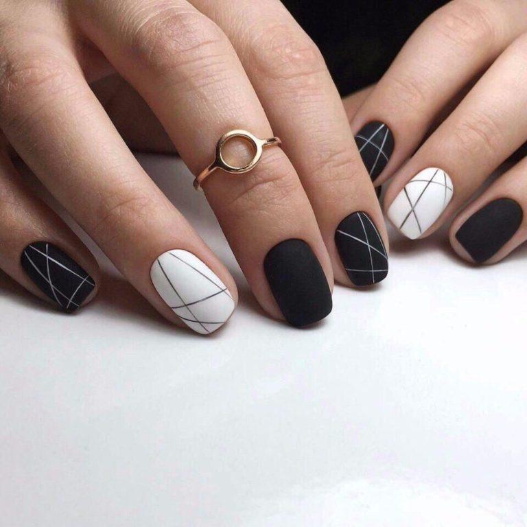 Дизайн ногтей черно-белый новинки 2017-2018